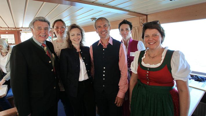 Impressionen Gustav Mahler Festival Pressekonferenz 2018 - v.l. Wolfgang Hikes, Stephanie Schwarzenlander, Regina Schachl, Leo Gander, Judith Burgstaller-Legat