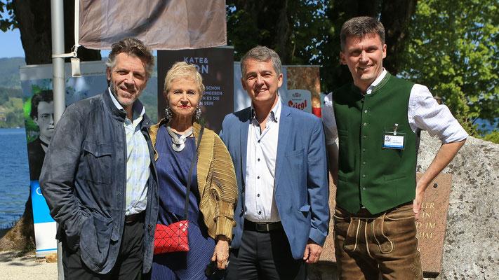 Impressionen Gustav Mahler Festival Pressekonferenz 2018; v.l. Thomas Hampson, Marina Mahler, Morten Solvik, Georg Föttinger