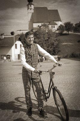 Fahrradkleidung um 1890