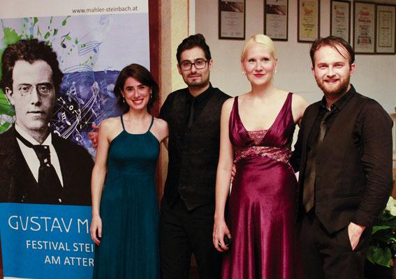 vl: Anna Magdalena Kokits, Adrian Stanciu, Liina Leijala, Cristian Ruscior