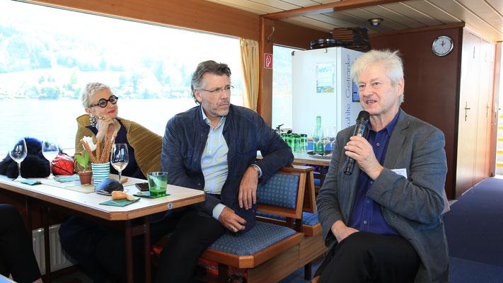 Impressionen Gustav Mahler Festival Pressekonferenz 2018 - vl: Marina Mahler, Thomas Hampson, Rudolf Pietsch