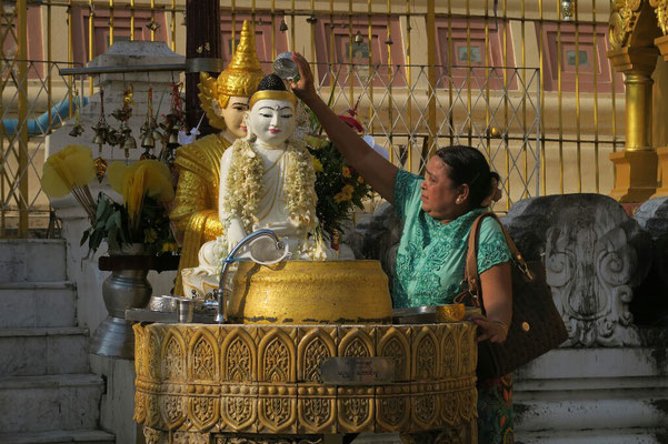 C'est l'heure de la toilette pour Bouddha!