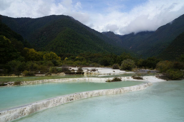Les terrasses calcaires de Baishuitai