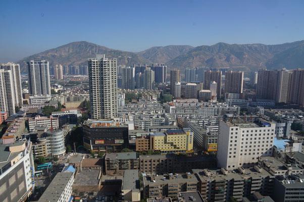 Xining de jour depuis le 32ème étage