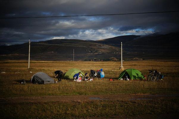 Camping avant Garze