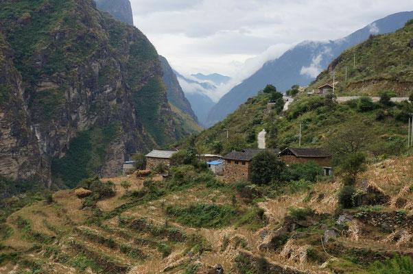 Les cultures en terrasse dans les gorges
