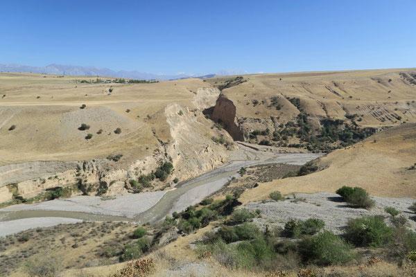 Canyon à la sortie de la vallée