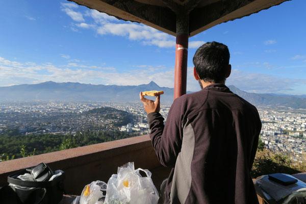 Petit dej sur les hauteurs de Lijiang