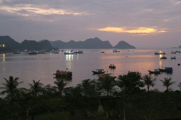 Vue sur la baie de Lan Ha depuis notre chambre