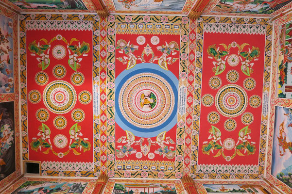 L'intérieur des temples est souvent coloré