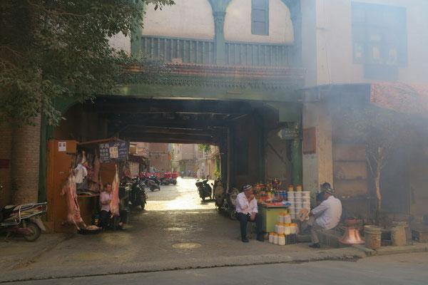 """Les petites ruelles animées du """"vieux"""" Kashgar"""