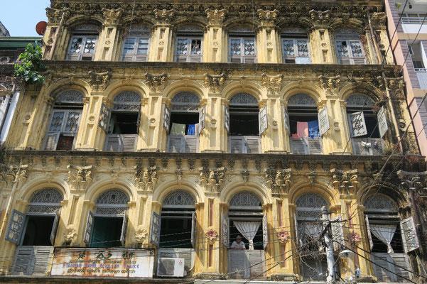 Batiments coloniaux de Yangon