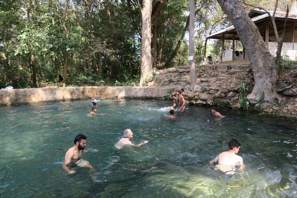 Petite pause rafraichissant dans un bassin