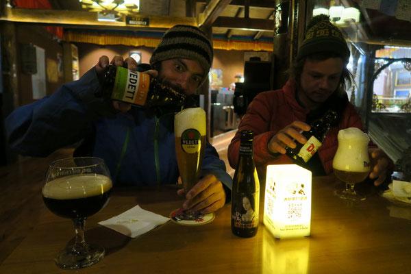 Et même des bières belges... à Shangri-la
