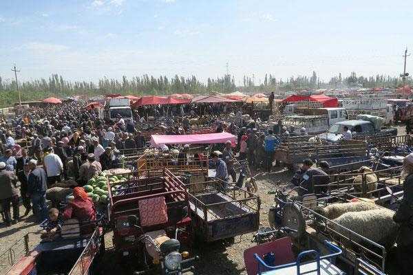 Marche aux animaux de Kashgar