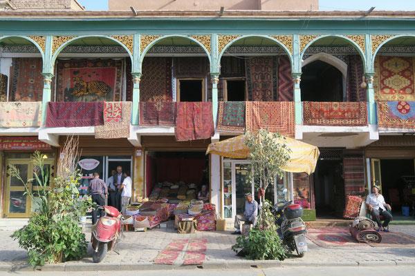 Les jolies façades de Kashgar