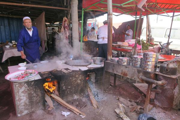 Des nouilles au mouton, fraîchement préparé