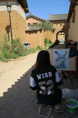 Apprenti peintre a Shaxi