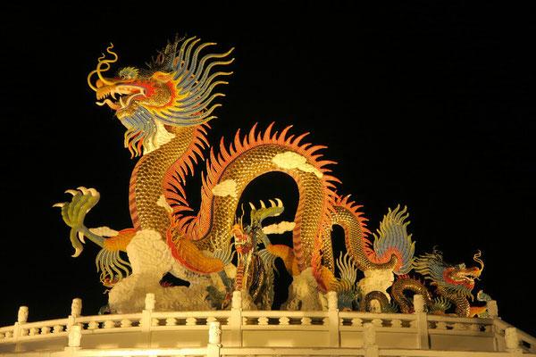On célèbre le nouvel an chinois à Nakhon Sawan. Bonne année!