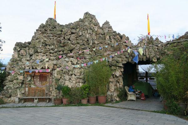Camping a l'entrée du temple juste avant Lijiang