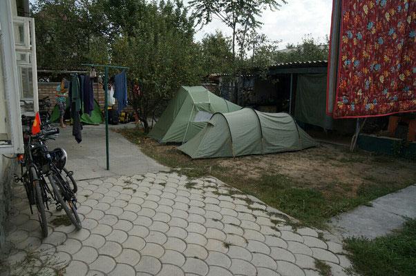 Camping à la guesthouse