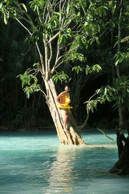 Nico et Elicola... rien d'autre - chutes de Kuang Si, Laos