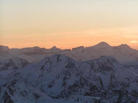 Coucher de soleil au Pic du Midi de Bigorre (Février)
