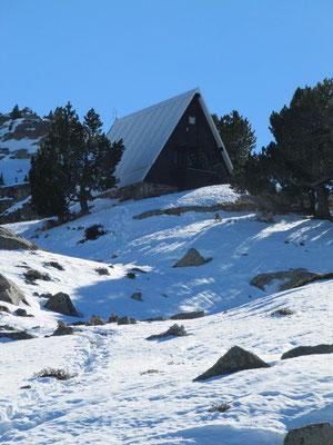Le refuge de Campana de Cloutou en novembre