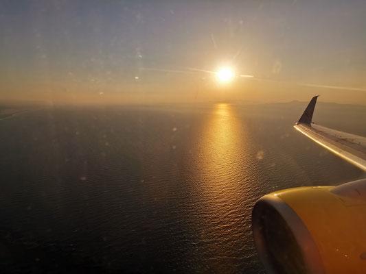 Landeanflug auf Rhodos