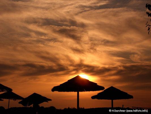 Sonnenuntergang in Valalta (Kroatien)