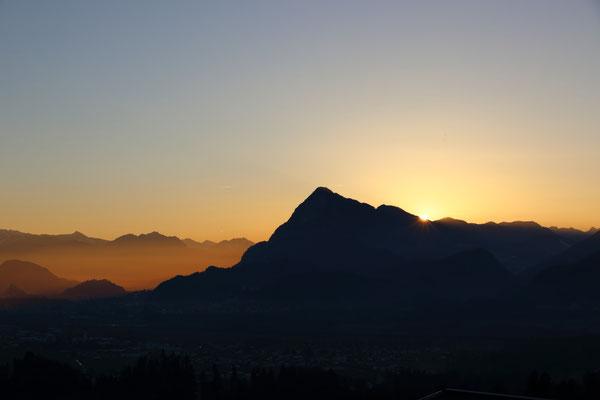 Sonnenuntergang über dem Inntal
