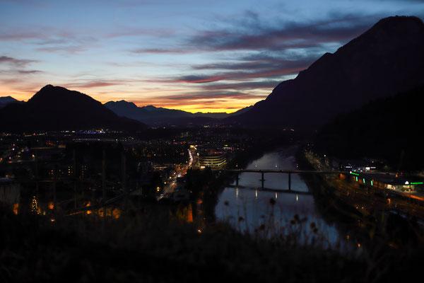 Inn und Pendling von Festung Kufstein aus im Advend 2019