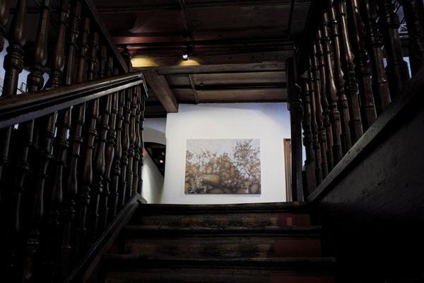 Treppe hoch zu der Galerie.  Anna Kiiskinen