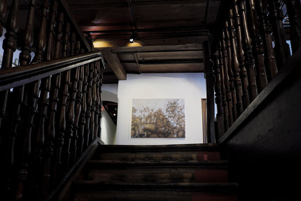 Stairs up to the gallery. Anna Kiiskinen