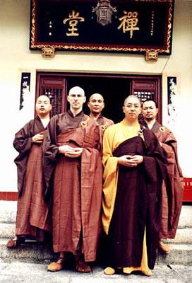 Chuan Zhi Shakya in seiner Zeit als Bhikkhu (Mönch)
