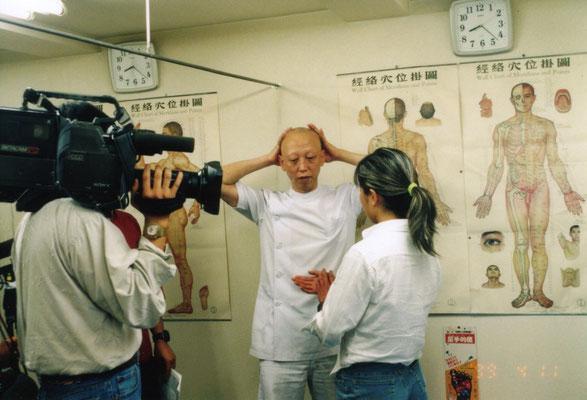 テレビ朝日の取材風景①