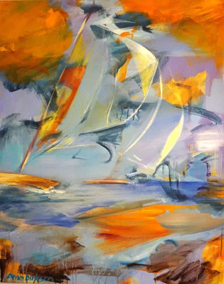 Luftige Komposition - 100 x 80