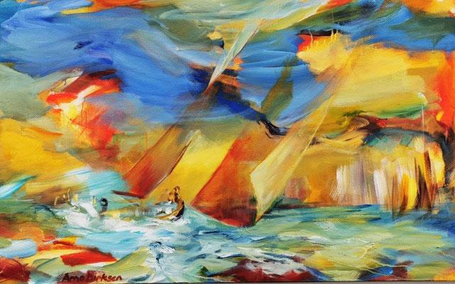 Farbspiel - 80 x 130 cm