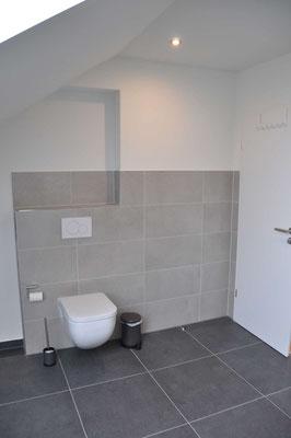 Badezimmer mit Dusche und WC Ferienwohnung Langenargen