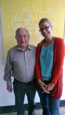 Antje Diller-Wolff in ihrer Ausbildung mit Begabungsforscher Prof. Dr. Franz J. Mönks (†)