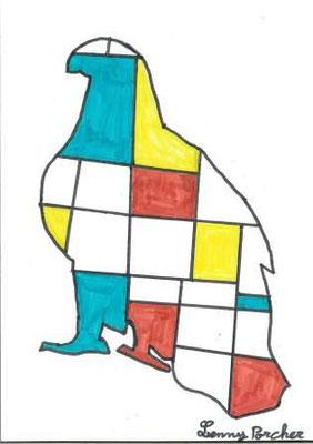 à la manière de Mondrian par Lenny P.