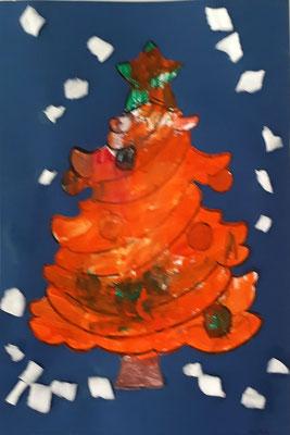 MS : coloriage et découpage d'arbre