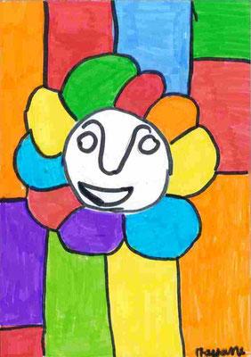 tête en fleur par Mayane