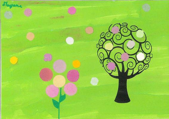 arbre de printemps par Mayane