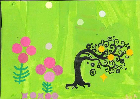 arbre de printemps par Eva