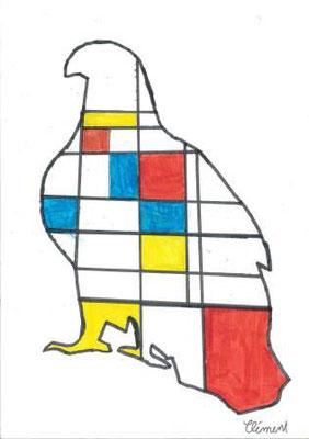 à la manière de Mondrian par Clément