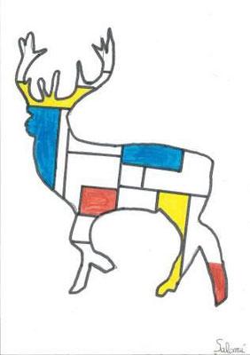 à la manière de Mondrian par Salomé