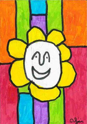 tête en fleur par Yixin
