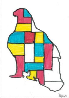 à la manière de Mondrian par Kyllian