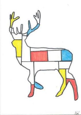 à la manière de Mondrian par Noé